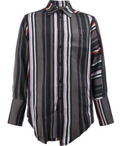 Yang Li | Broad Cuffs Striped Shirt Size 48