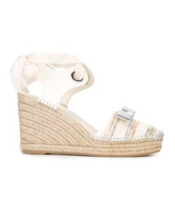 Salvatore Ferragamo | Bow-Detail Wedge Sandals Size 7.5