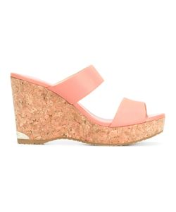 Jimmy Choo | Parker 100 Wedges 37 Cork/Calf Leather/Plastic/Calf