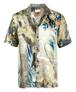 Dries Van Noten | Silk Printed Bowling Shirt Size 52