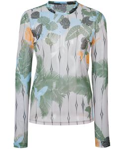 Yigal Azrouel | Tropical Bird Mesh Top