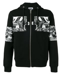 Les Hommes Urban | Patch Hooded Sweatshirt Size Medium