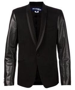Junya Watanabe Comme Des Garçons   Man Leather Sleeve Tuxedo Blazer