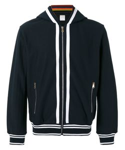 Paul Smith | Striped Detail Zipped Hoodie Size Small