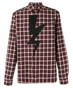Neil Barrett | Lightning Bolt Check Shirt