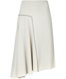 Bassike | Asymmetric Skirt 8 Cotton/Elastodiene/Nylon