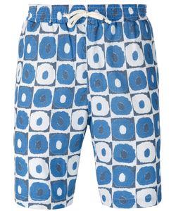 Universal Works | Geometric Print Beach Shorts Size Medium