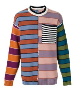 Andrea Pompilio | Chest Pocket Striped Jumper Size Large
