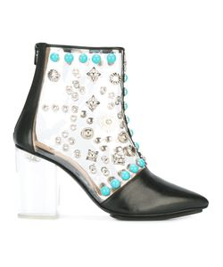 Toga Pulla   Clear Vinyl Ankle Boots Size 38 Calf