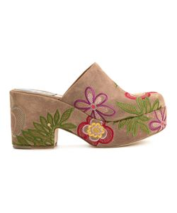 Laurence Dacade   Embroidered Slip-On Mules