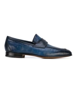 Santoni | Croc-Effect Loafers 9