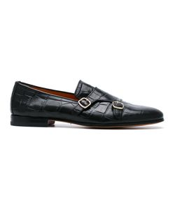 Santoni | Embossed Monk Shoes Size 8.5