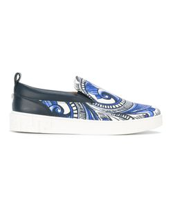 Versace | Painted Baroque Slip-On Sneakers Size 40