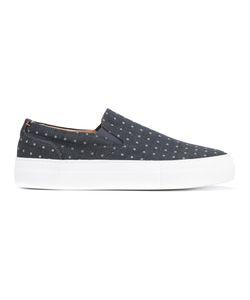 Wooster + Lardini | Polka Dot Slip-On Sneakers Men
