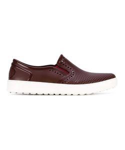 Salvatore Ferragamo | Perforated Slip On Sneakers