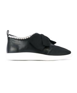 Giuseppe Zanotti Design | Embellished Bow Sneakers Calf
