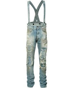 Faith Connexion   Distressed Dungaree Jeans Size 33
