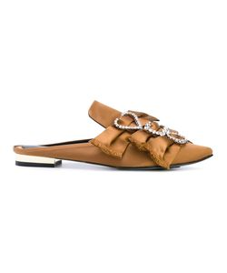 Suecomma Bonnie   Satin Bow-Embellished Mules