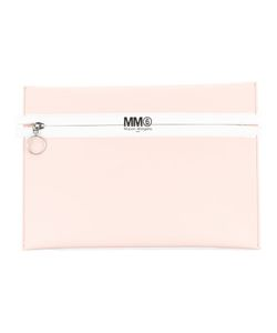 Mm6 Maison Margiela | Logo Print Zip Clutch
