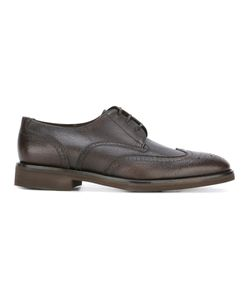 Salvatore Ferragamo | Brogue Detail Derby Shoes 7.5 Calf