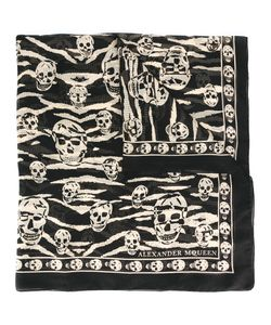 Alexander McQueen | Skull And Tiger Stripes Scarf Silk