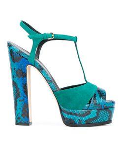 Sergio Rossi | Patterned Block Heel Sandals Women