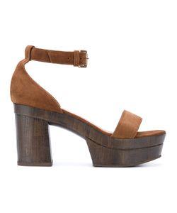 L'Autre Chose | Clogs With Ankle Strap Leather/Calf