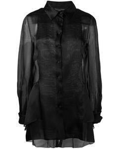 Alberta Ferretti | Sheer Panel Blouse Size 40