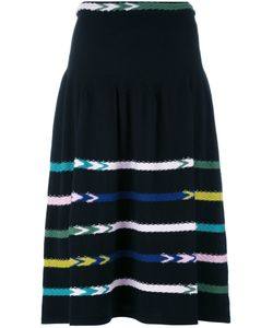 Barrie | Striped Knit Skirt Medium Cashmere
