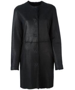 Liska   Single Breasted Shearling Coat Size Lamb Fur/Lamb