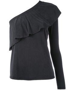 Just Female   Single Sleeve Ruffled Blouse