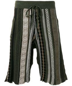 Laneus | Ethnic Knitted Shorts Size 52