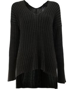 Ilaria Nistri | High-Low Hem Ribbed Knitted Top Size Large