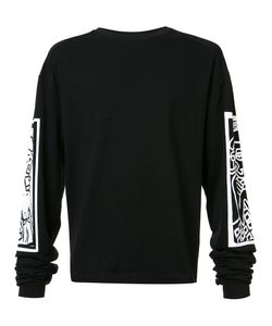 Haculla | Printed Sleeves Sweatshirt Small