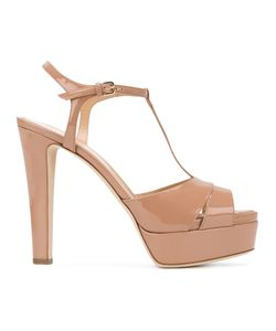 Sergio Rossi   Patent Open Toe Sandals Size 36 Leather/Patent