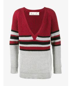 Martine Rose   V-Neck Stripe Jumper Small Cotton