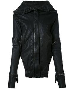 Barbara I Gongini | Broad Lapels Leather Jacket