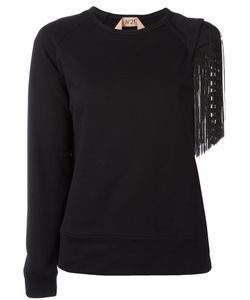 No21 | Cut-Out Fringed Sleeve Jumper Women
