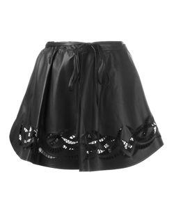 Alexander Wang | Embroide Mini Skirt 4 Lamb Skin/Cotton