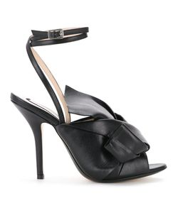 No21 | Oversized Bow Stiletto Sandals Women Calf Leather/Goat