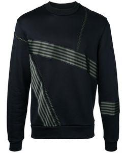 Wooyoungmi | Striped Trim Sweatshirt 46 Cotton/Polyamide