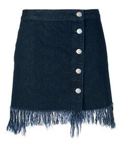 3X1 | Frayed Denim Skirt S