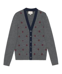 Gucci | Cardigan With Bees And Stars
