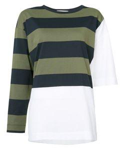 Hache   Striped Panel Sweater 42