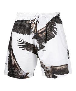 Yoshio Kubo | Eagle Print Drawstring Shorts