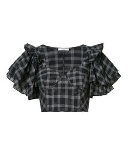 Tome | Ruffle Sleeve Cropped Top