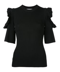 Le Ciel Bleu | Cut Out Frill Sleeve Top Women