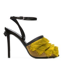 Marco de Vincenzo   Fringe-Trimmed Sandals Size 37 Calf Leather/Other