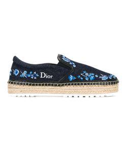 Dior | Embroidered Denim Espadrilles Size 37.5