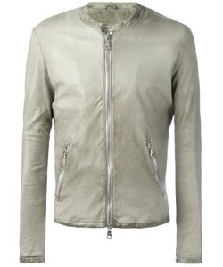 Giorgio Brato | Banded Collar Leather Jacket Size 56